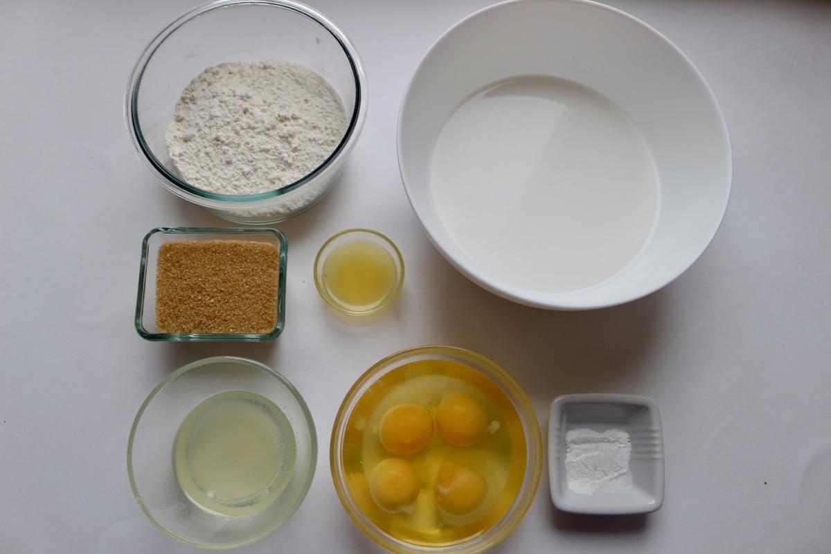 Ингредиенты для безглютеновых блинов